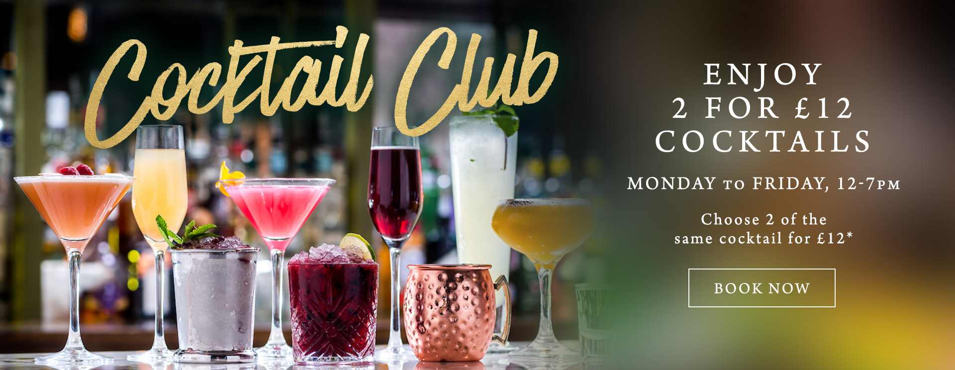 2 for £12 cocktails at The Red Lion